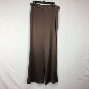 Ralph Lauren Black Label Brown Silk Trousers